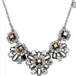 kate spade silver grey geometric necklace nwot